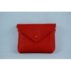 Kožená kabelka Luciana RED